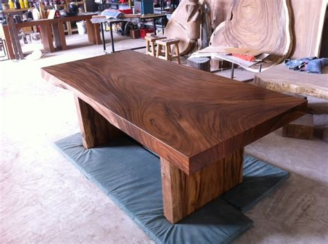 modern wood slab dining table reclaimed solid slab acacia wood dining table by flowbkk