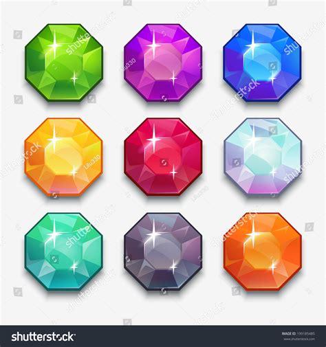 home design game how to get gems cartoon vector gems diamonds icons set stock vector