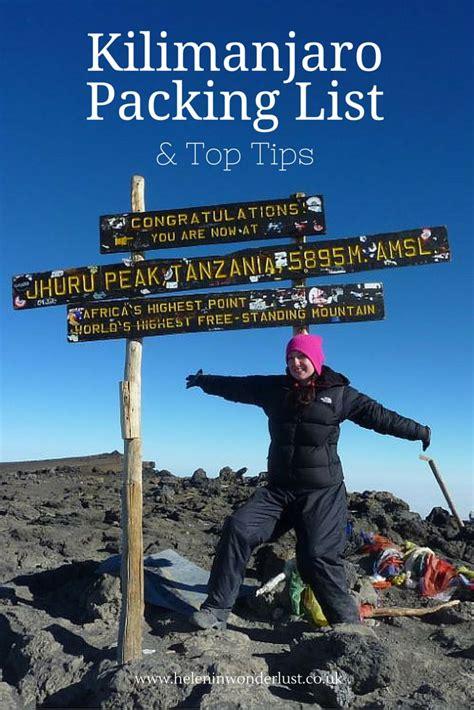 trekking mount kilimanjaro packing list her packing list 25 best mount kilimanjaro ideas on pinterest