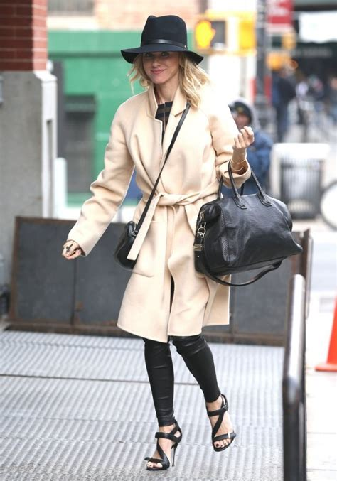 naomi watts  spotted   york city leather celebrities