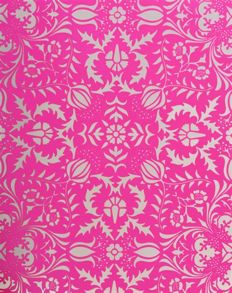 hot pink pattern wallpaper dauphine hot pink damask wallpaper wallpaper orange