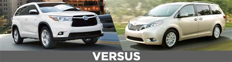 Toyota Highlander Model Comparison 2016 Toyota Highlander Vs Model Comparison