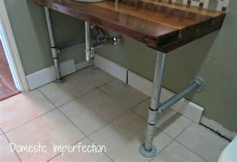 Galvanized Plumbing Replacement Cost by Vanities Industrial And Legs On