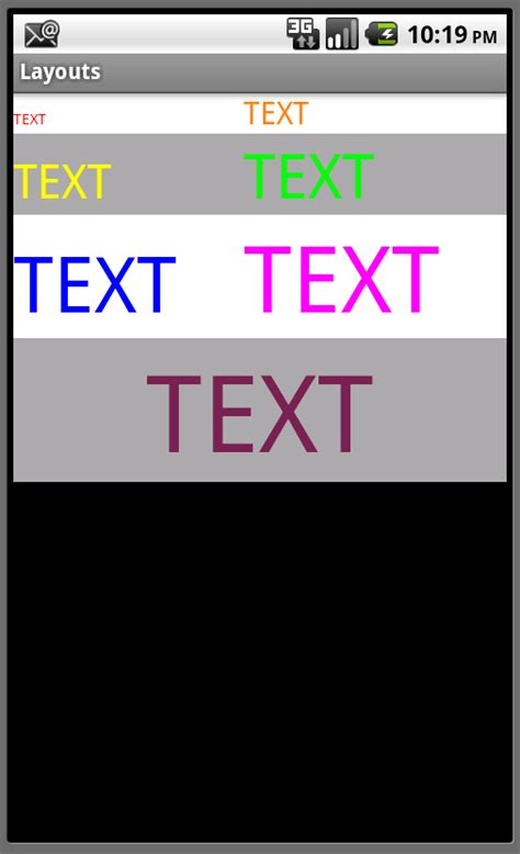 nested table layout in android android user interface design layout basics