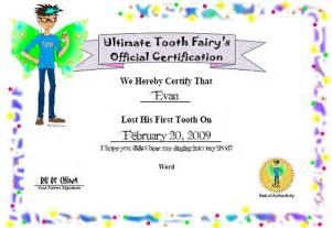 custom tooth fairy certificate