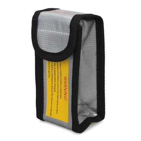 Fireproof Letterbox Bag 12 5 6cm Rc Lipo Battery Fireproof Safety Guard Protection Bag Box Charging Sack Silver