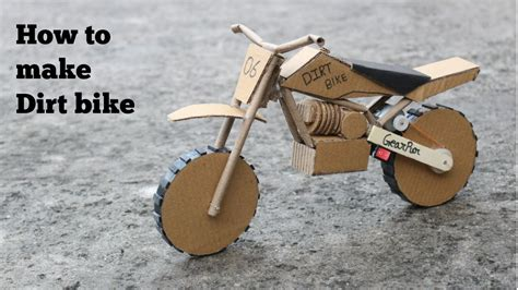 How To Make A Paper Motorbike - how to make cardboard dirt bike at simple