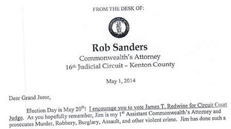 Endorsement Letter For Judge In Judge S Race Kentucky Prosecutor Turns To Grand Jury