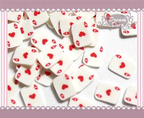 ace  heart poker card slice polymer clay cane