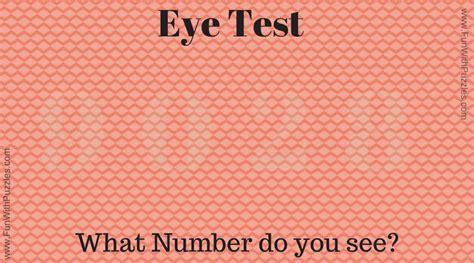 Eye Test Puzzle Images