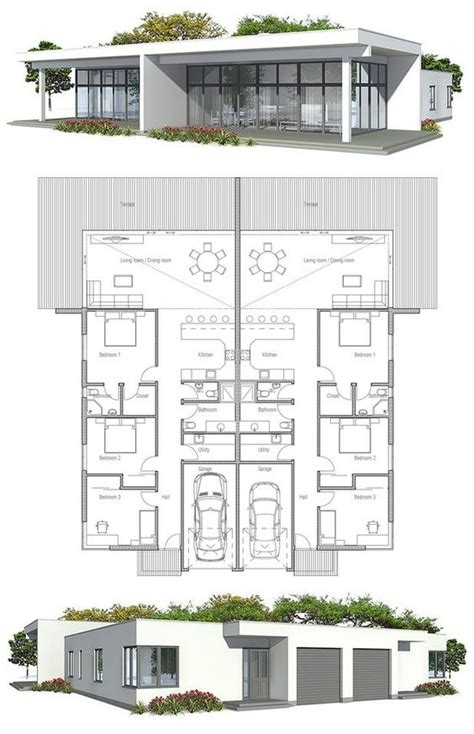 narrow lot duplex floor plans duplex house plan to narrow lot duplex house plans