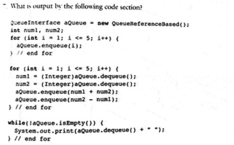 code section 61 what is the output by the following code section chegg com