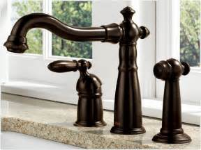 bronze faucets for kitchen delta 155 rb dst single handle kitchen faucet with spray venetian bronze touch on