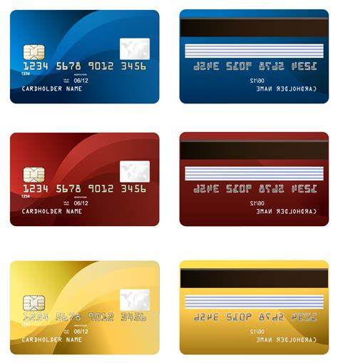 Credit Card Template Front And Back Credit Cards