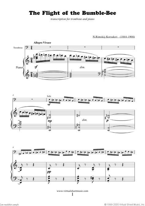 song trombones rimsky korsakov the flight of the bumblebee sheet music
