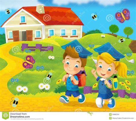 imagenes infantiles escuela el caminar a la escuela educaci 243 n ejemplo para los