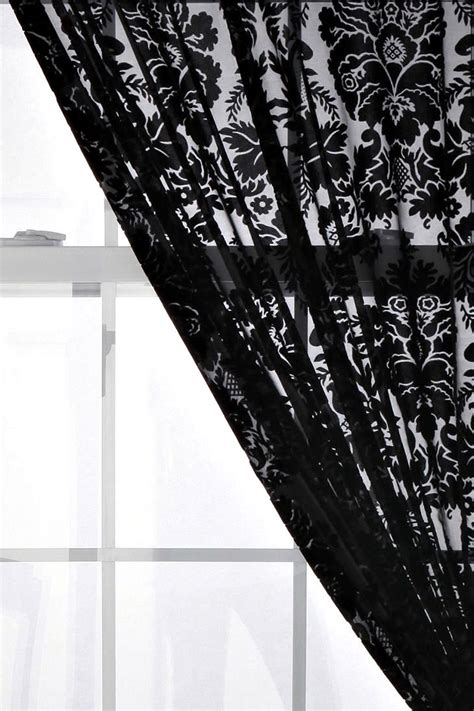 damask velvet curtains 47 best images about black on the window on pinterest