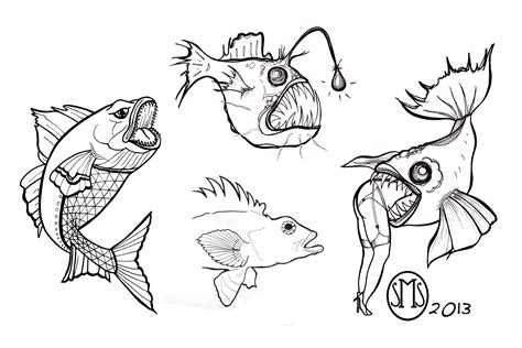 small tattoo flash art fish tattoos
