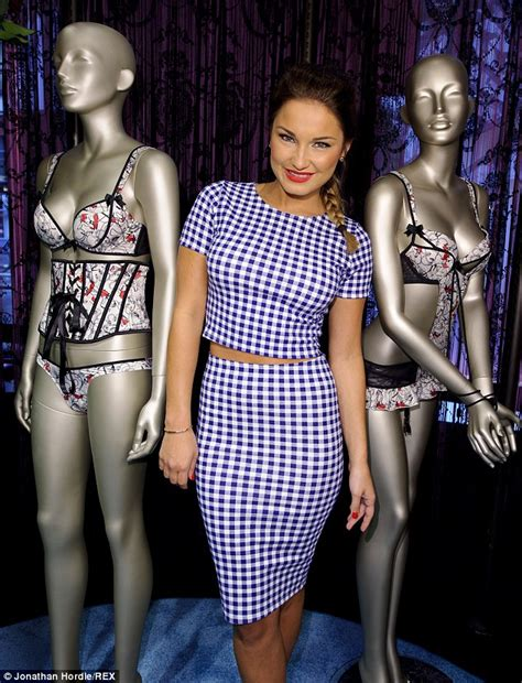 Shiny Fashion Tv Giles Deacon Gold by Sam Faiers Covers Up For Launch Of Giles Deacon S