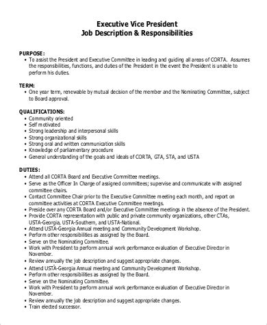 sle appointment letter for vice president position marketing coordinator description sles sle