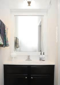 Frames For Existing Bathroom Mirrors - how to frame a bathroom mirror how to nest for less