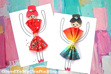 paper napkin crafts paper napkin dress ballerinas kid craft glued to my crafts