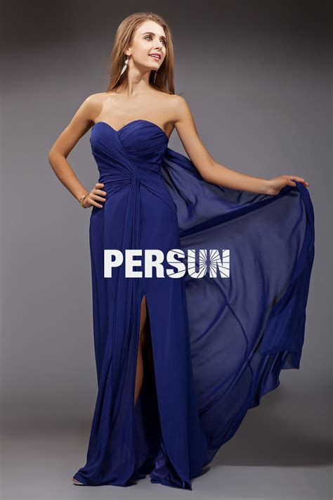 Robe Bustier Bleu Roi Mariage - robe longue pour mariage bleu bustier coeur pliss 233 s avec