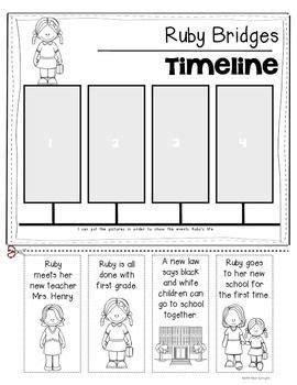 Ruby Bridges Worksheets by Ruby Bridges Timeline For Kindergarten And Grade