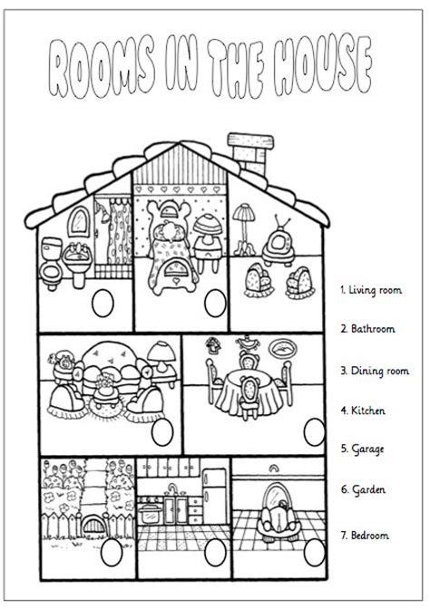 printable area traduccion fichas partes de la casa en ingles primaria buscar con