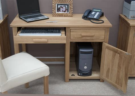 small computer desk chair eton solid oak modern furniture small office pc computer