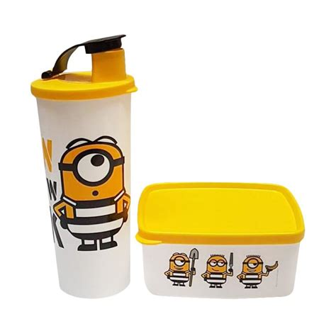 Tupperware Lunch Minion jual tupperware minion set yellow harga