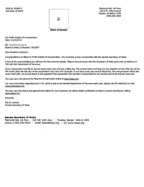 Kansas Articles Incparadise Net Iowa Llc Certificate Of Organization Template