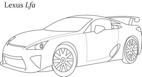 super car lexus lfa coloring page  kids