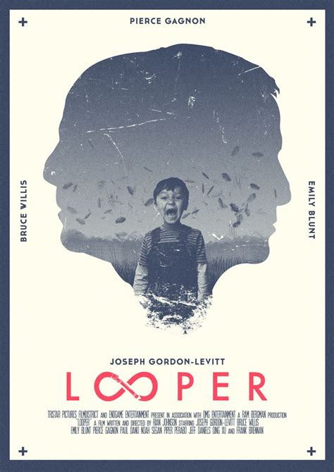 layout poster film looper movie posters pinterest