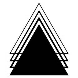 triangle design gumtoo designer temporary tattoos geometric triangle