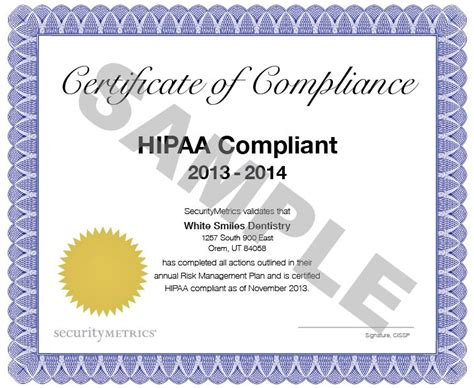 hipaa certificate template 75 best hipaa security images by securitymetrics on