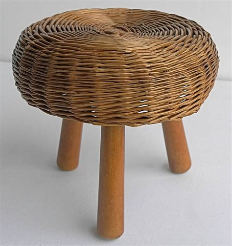 Wicker Stools For Sale by Wicker Stool In The Style Of Perriand For Sale At 1stdibs