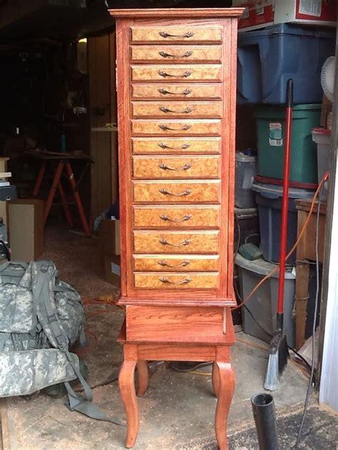 custom made jewelry armoire custom amboyna burl jewelry armoire by woodplank wishes