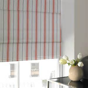 Cafe Curtains Kitchen by Candy Stripe Roman Blind Seaside Blue Luxury Made To