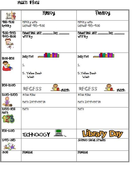 teacher lesson plan template loooove the idea of including a to do