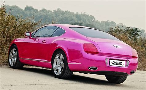bentley car pink bentley continental gt is purple pink in china