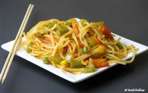 new year vegetarian noodles vegetable noodles err spaghetti redchillies