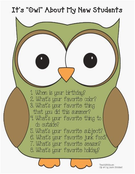 owl printables for classroom a crucial week owl about me freebie from classroom freebies