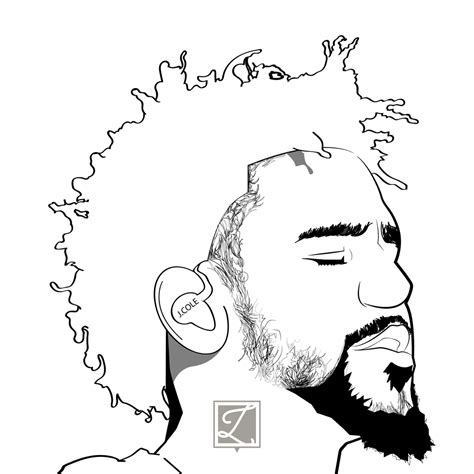 J Cole Drawing Easy by Process Variation
