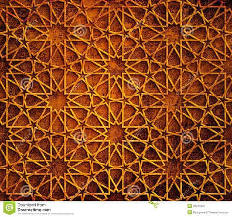 pattern islamic texture islamic geometric grunge background stock illustration