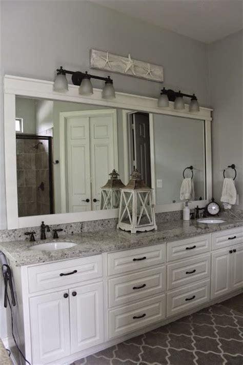 Bathroom mirror, Colonial White Granite, White Dove