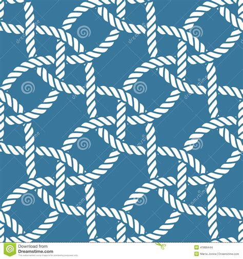 seamless nautical pattern seamless nautical rope pattern stock illustration image