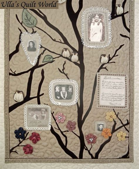 Family Tree Quilt Pattern by Ulla S Quilt World Quilted Family Tree