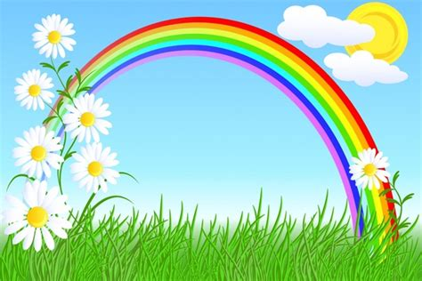 wallpaper rainbow cartoon cartoon rainbow wallpaper free vector download 19 655