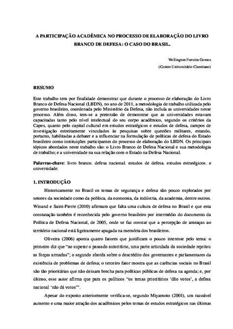 (PDF) A Participação Acadêmica no Processo de elaboração